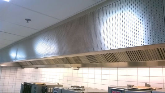 Professional Kitchen Exhaust Hood with Inlet Air