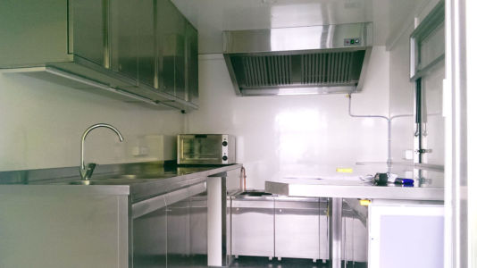 Mobile Kitchen Exhaust Hood