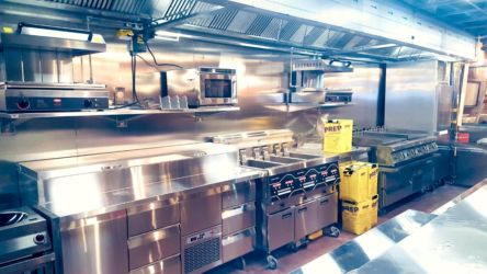 Exhaust Hood with Air Jet and Air Supply