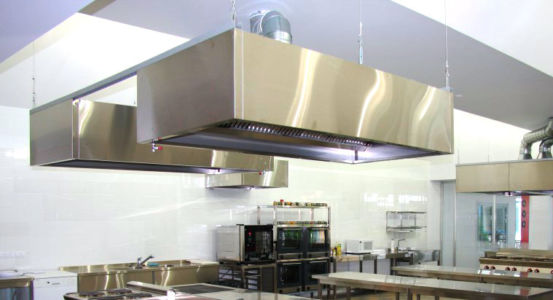 Island Stainless Steel Exhaust Hood
