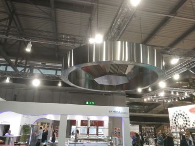 Bespoke Commercial Kitchen Round Extraction Canopy
